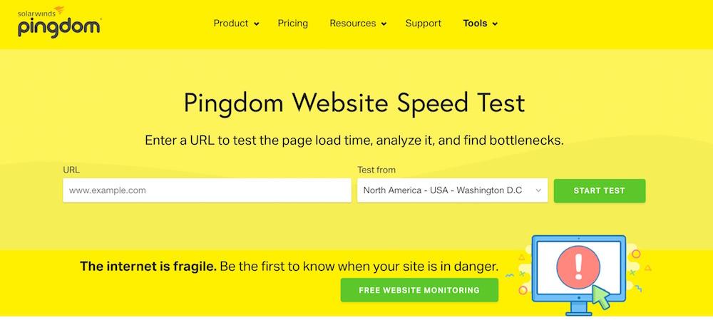 Pingdom - Velocità del sito web